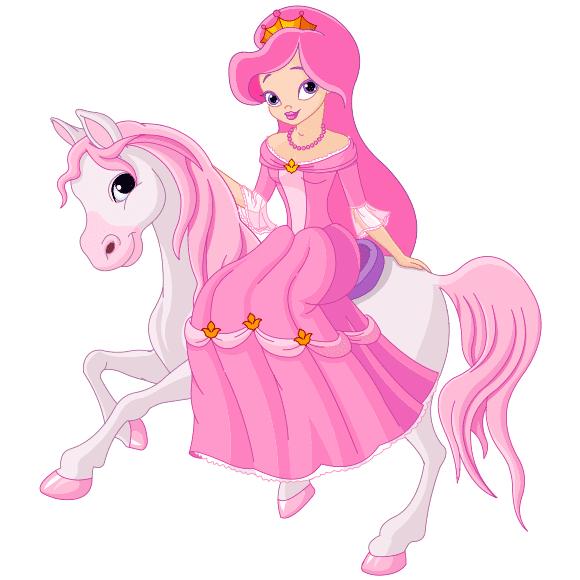 Hada infantil rosa con pony