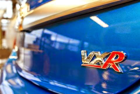 Insignia VXR badge closeup