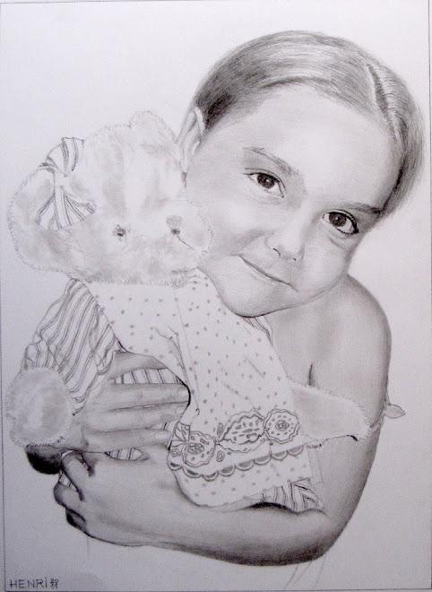 Petite fille au nounours