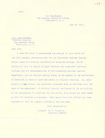 Letter from W. T. Johnston, Adjutant General of the United States, to John Bartlett, May 22, 1917