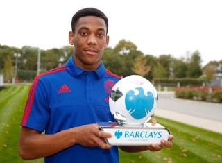 Anthony Martial Pemain Terbaik Liga Inggris September 2015
