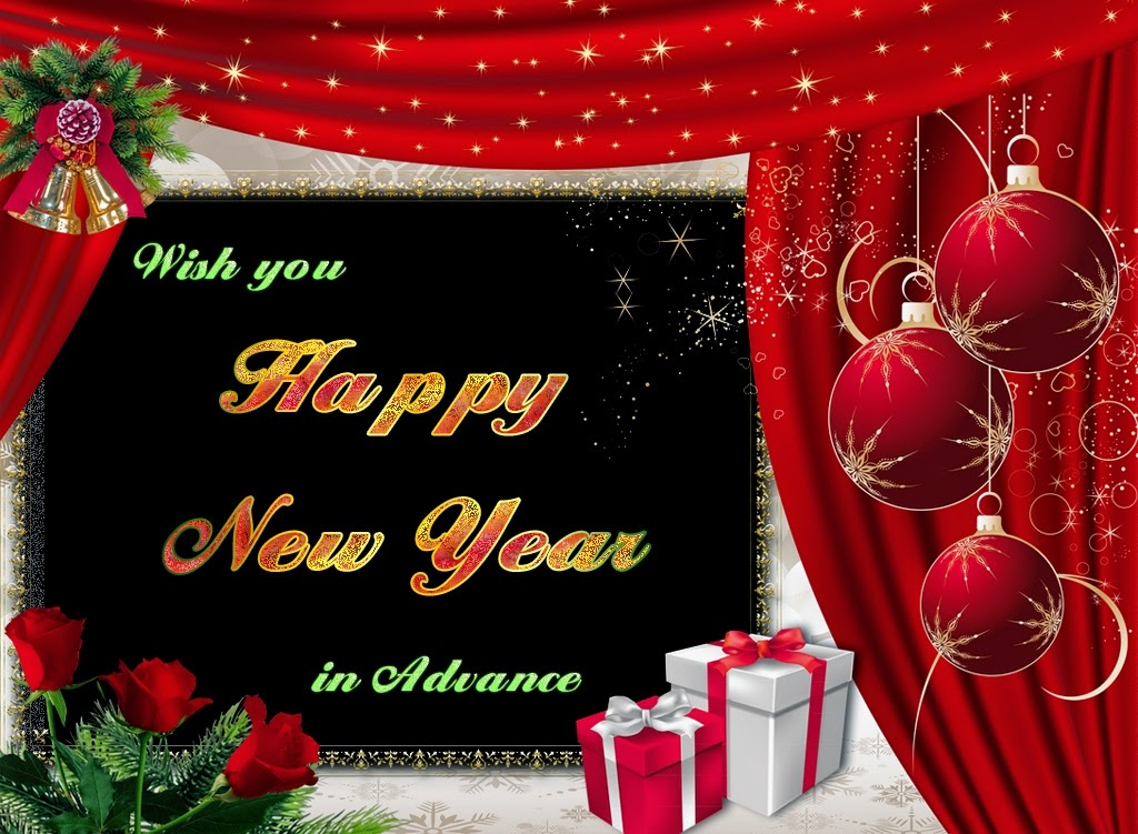 Christmas Happy New Years Advance Wishes 2015 eCards Images