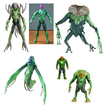 Green Lantern Movie Masters - G'Hu, Abin Sur, Rot Lop Fan, Naut Ke Loi, Kilowog & Green Man Action Figures