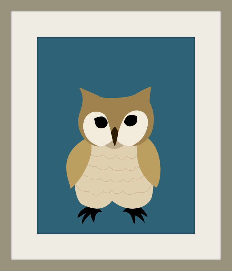 wallfry wall art for small fry new product owl print