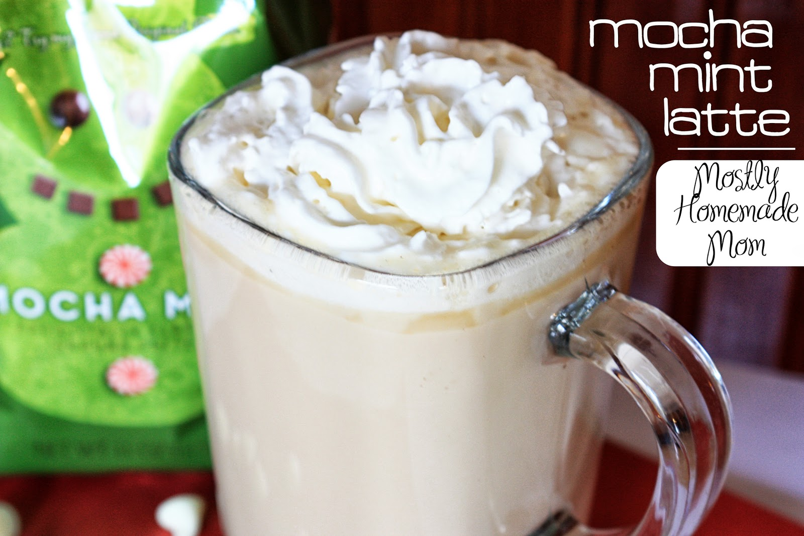 Mocha Mint Latte with Dunkin Donuts Coffee - Mostly Homemade Mom