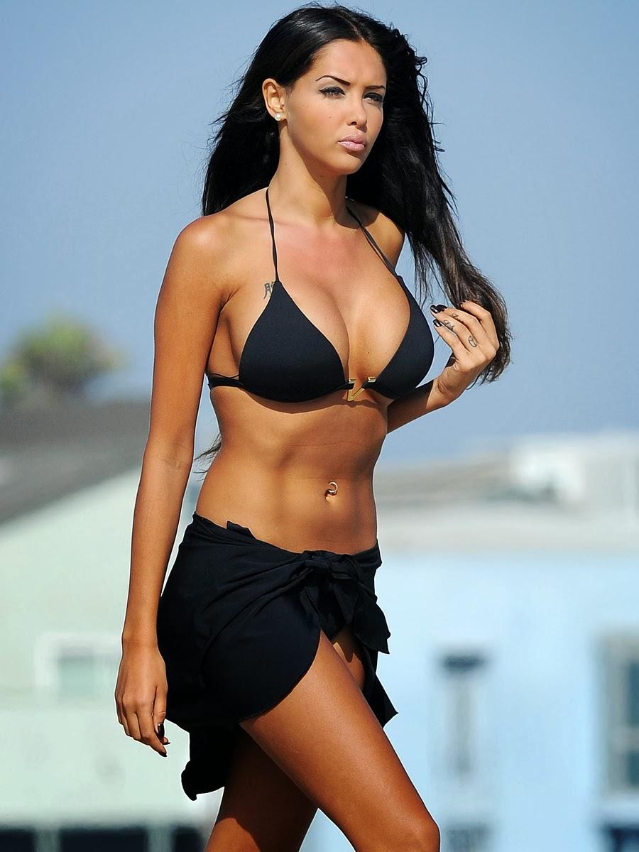 Nabilla Benattia Flaunts in a bikini