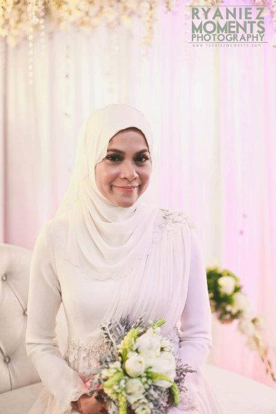 Gambar Perkahwinan Arniesha Azureen dan pasangannya Hafiz