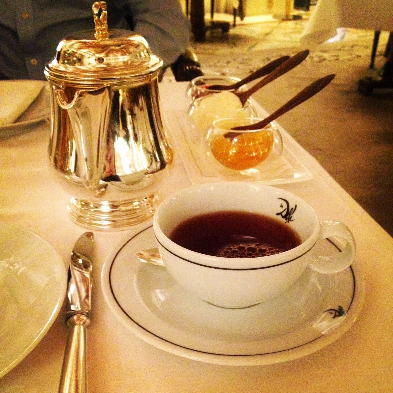 Tea, jams and clotted cream at Le Dali
