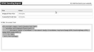 web based tool to encode and decode html