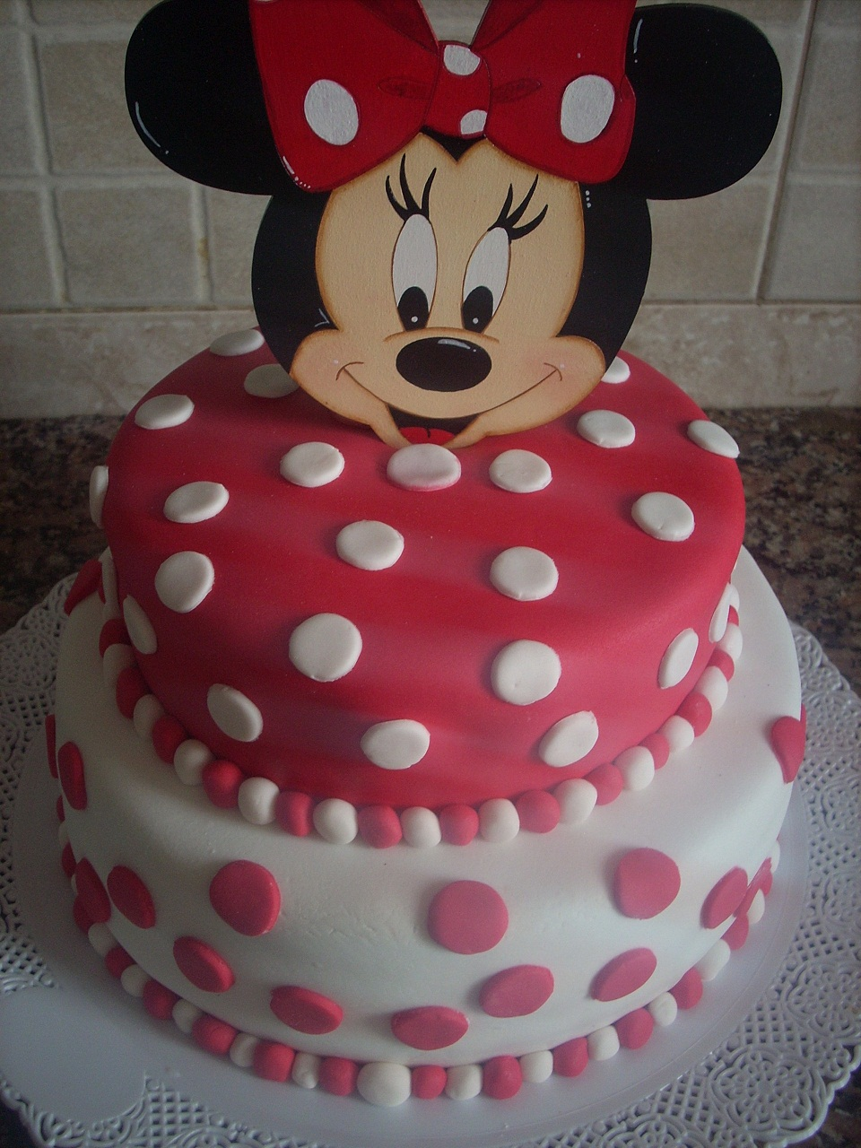 Torta De Bizcocho De Chocolate Minnie Mouse
