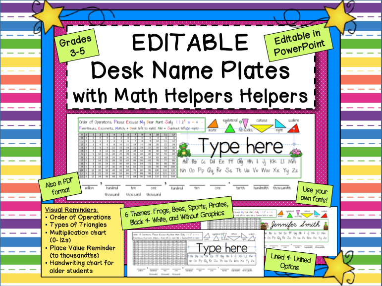 Mrs Renz Class Name Plates In Editable Format For Older