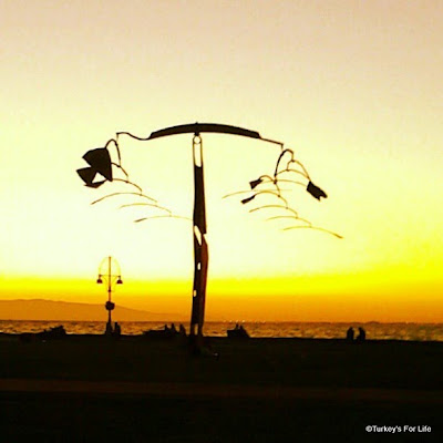 Izmir Sculpture At Sunset