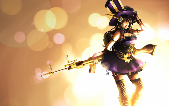 caitlyn league of legends lol champion girl hd wallpaper 1680x1050