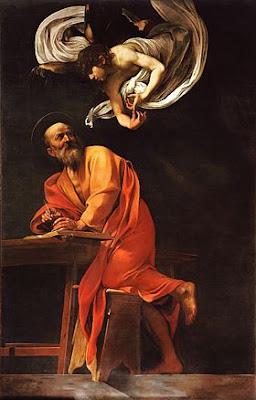 Le Caravage -  Saint Mathieu et l'ange,ca 1602