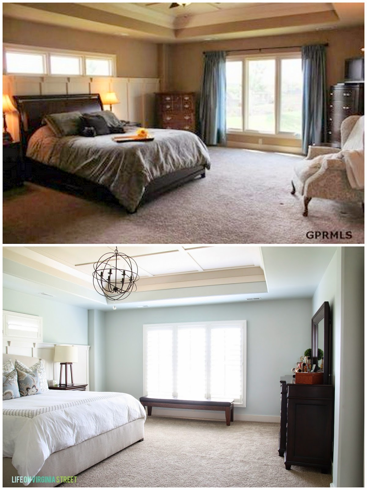 Gorgeous Master Bedroom Makeover - all sources included!