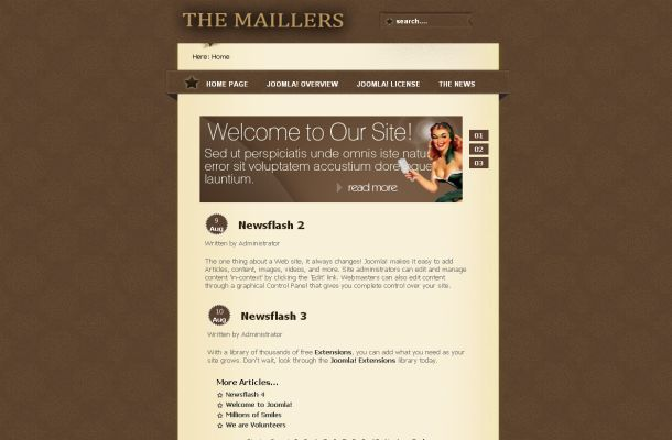 Brown Joomla Templates Free Vintage Brown Joomla Theme Template