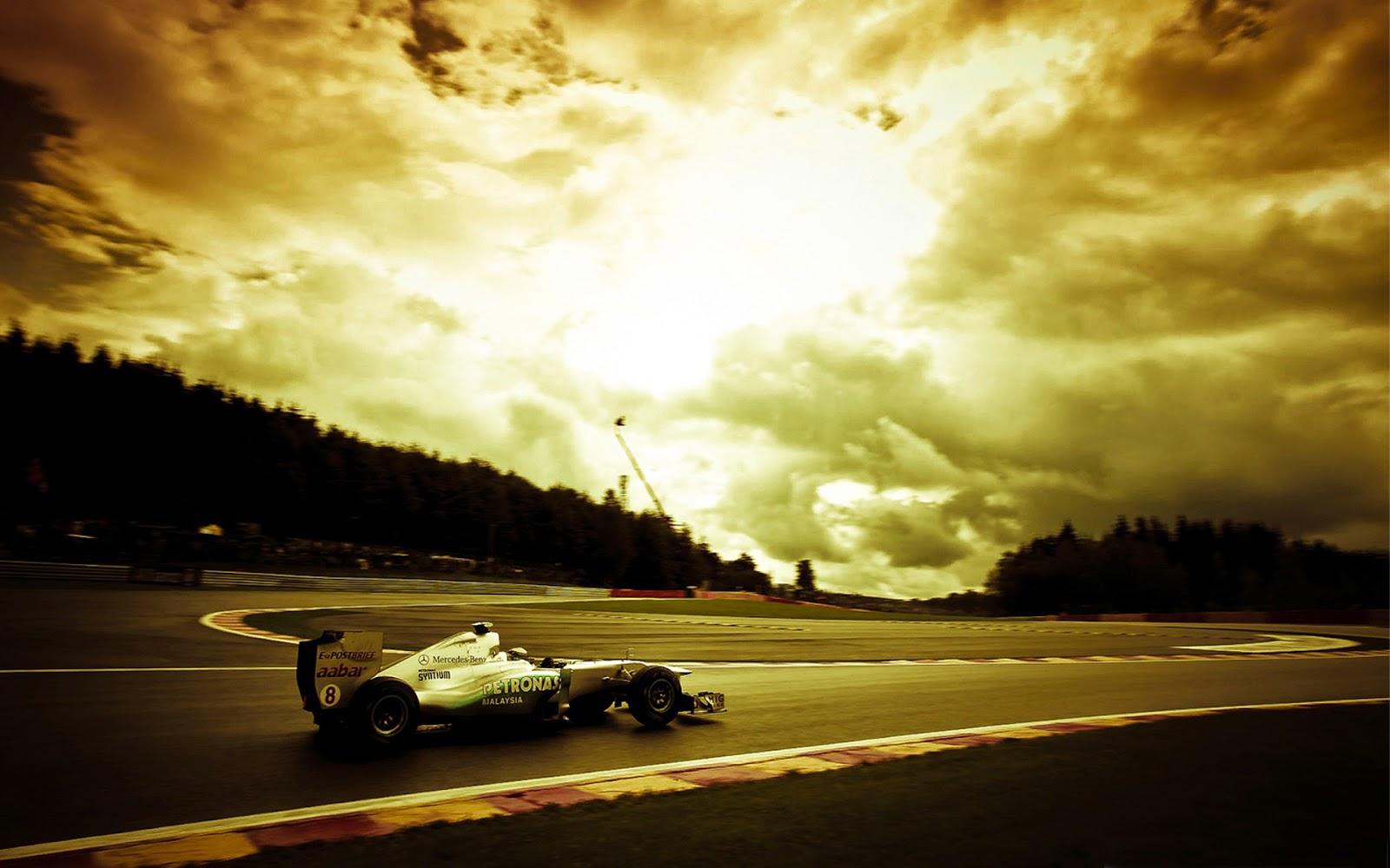 Gambar mobil balap f1 wallpaper yang keren
