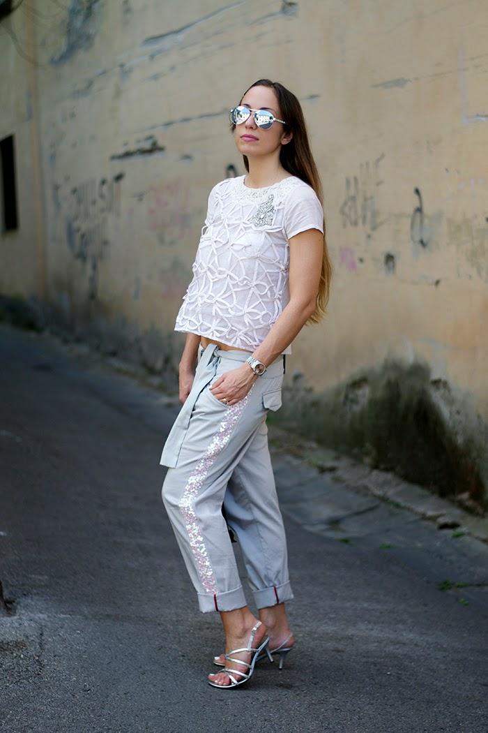 pantalone bagghy elegante