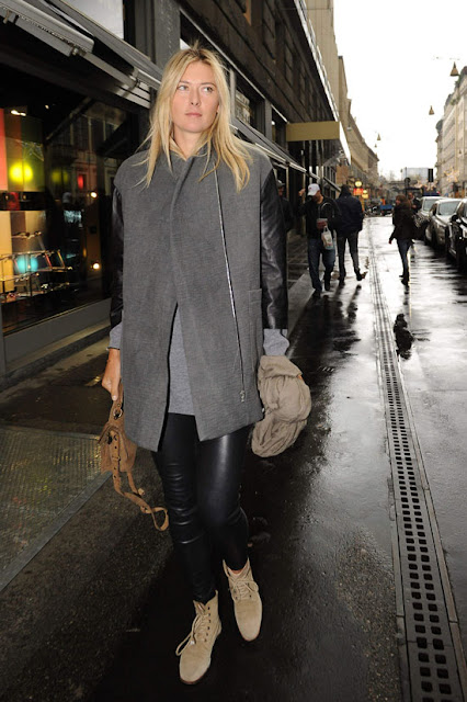 Maria Sharapova2 - 2013 K��: Deri Pantolon ve Tayt