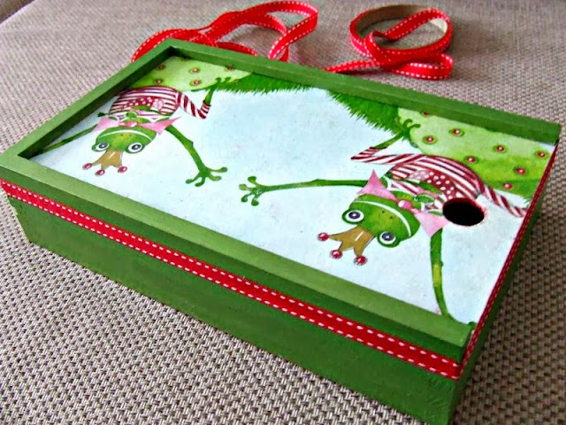 decoupage pudełko na kredki decoupage boc for children by Eco Manufaktura