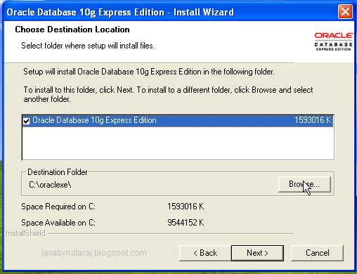 Installing Oracle Database 10g Express Edition_005