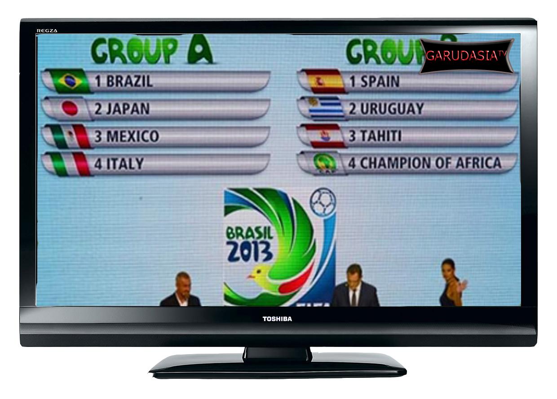 Cara Nonton Piala Dunia FIFA Konfederasi Cup Brazil di TV One dan Antv