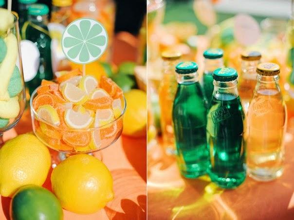 лимонадный стол на свадьбу