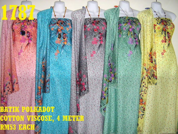 BP 1787: BATIK POLKADOT COTTON VISCOSE, 4 METER, 5 COLORS