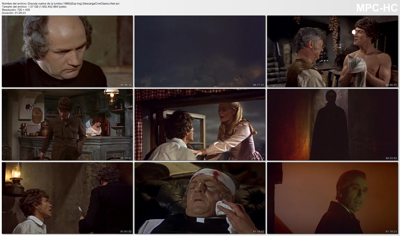 Capturas: Drácula vuelve de la tumba (1968)(Dracula Has Risen from the Grave)