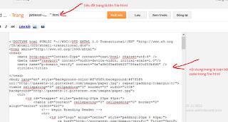 Xác thực website trên Pinterest đối với blogger