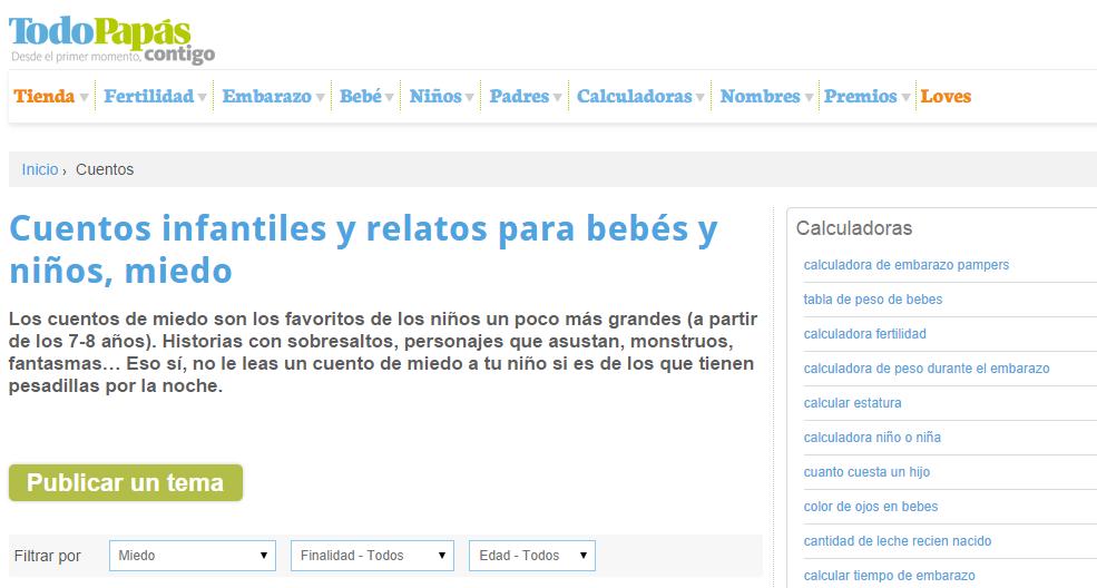bibliotecadonalvaro: Cuentos de terror para niños (páginas webs ...