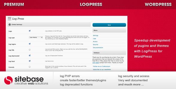 logpress wordpress plugin