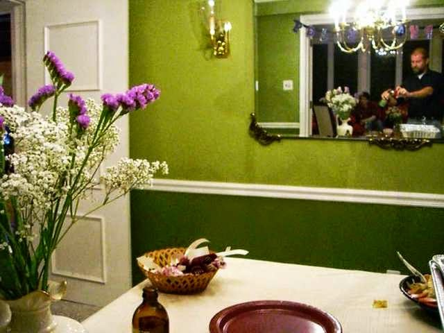 Dining room two tone paint ideas