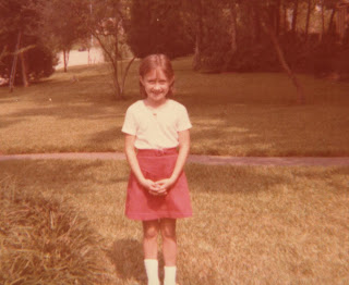First Day of School 1978 - Shelly in Third Grade