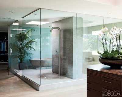 Feathered nest shower or bath for Bathroom elle decor
