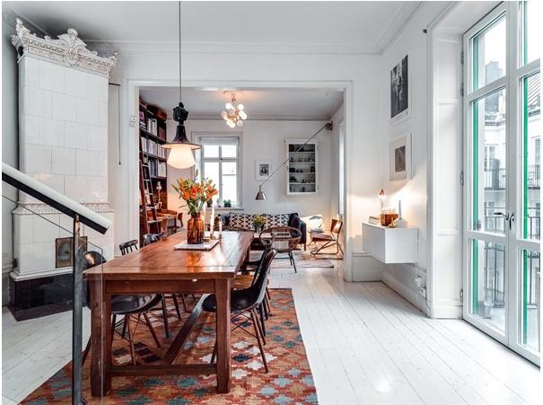 Duplex Loft in Kungsholmen Scandinavian Interior Living room