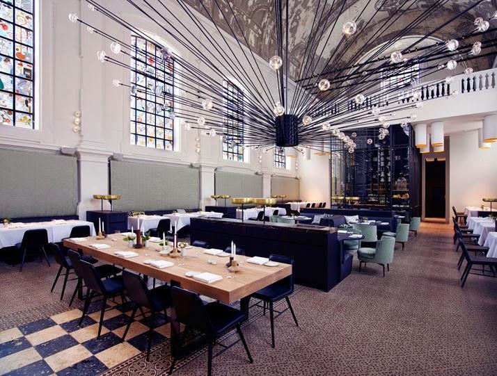 Una iglesia transformada en restaurante en Amberes4