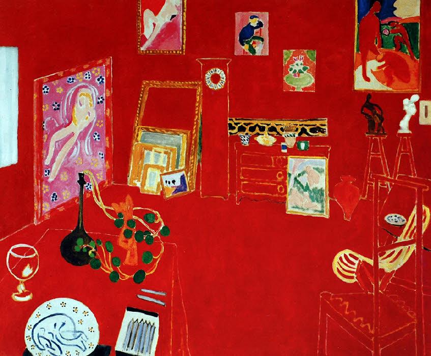 Matisse int rieur aux aubergines figuration et image les for Interieur rouge matisse