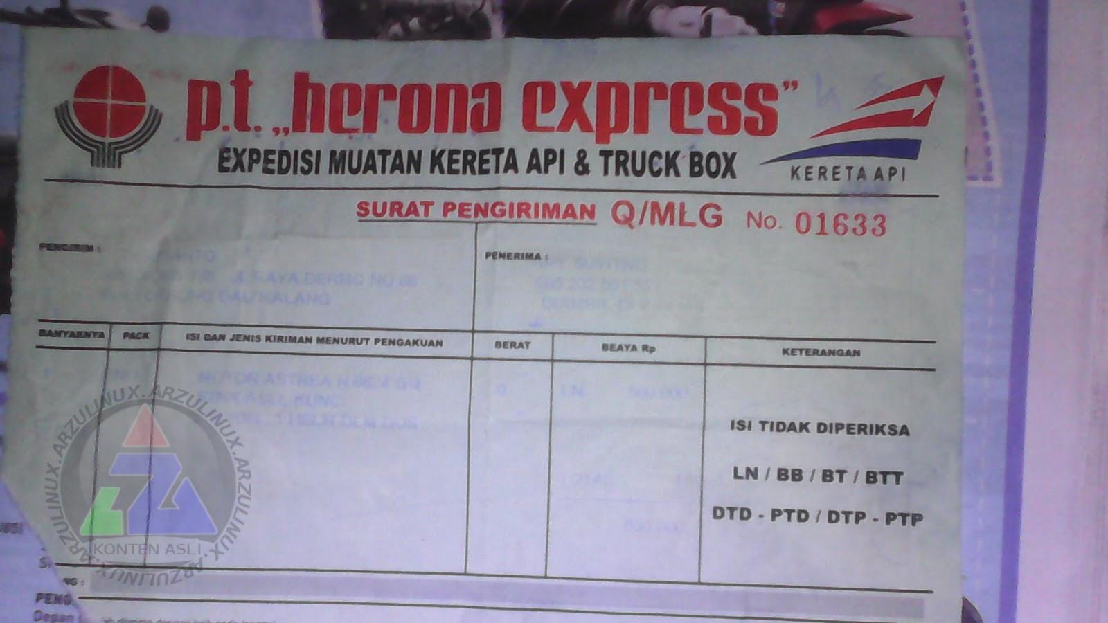 Pengalaman Menggunakan Jasa Pt Herona Express Untuk Kirim