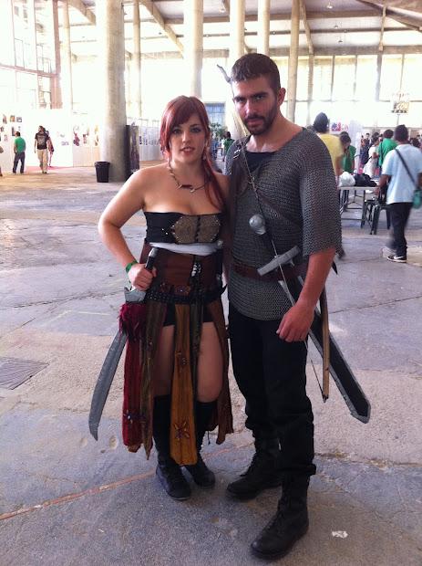 guerreros medievales en la Comic Con Spain 2012