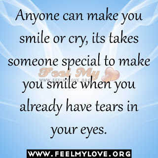 Anyone can make you smile or cry