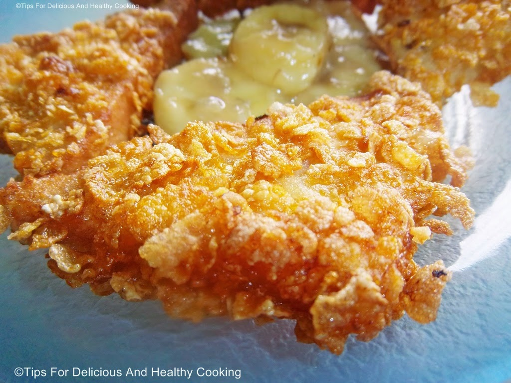 ... AND HEALTHY COOKING: Crispy French Toast With Buttered Banana