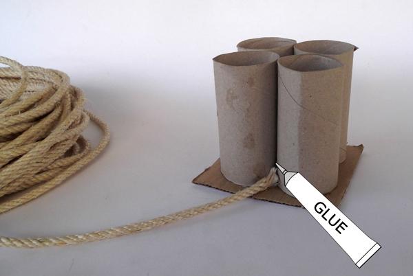 κατασκευές με σκοινί, χειροτεχνίες με σκοινί, χειροτεχνίες για παιδιά, ιδέες για χειροτεχνίες, χειροτεχνίες με χάρτινους κυλίνδρους,