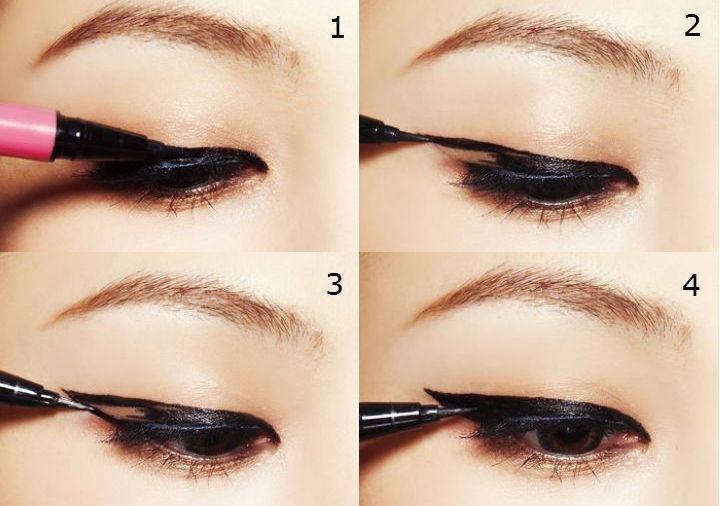 msromanticpunch cute or sexy two different eyeliner look. Black Bedroom Furniture Sets. Home Design Ideas