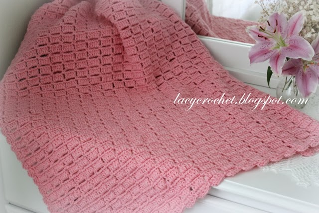 Crocheting Easy : Lacy Crochet: Easy Blocks Baby Blanket, my free pattern