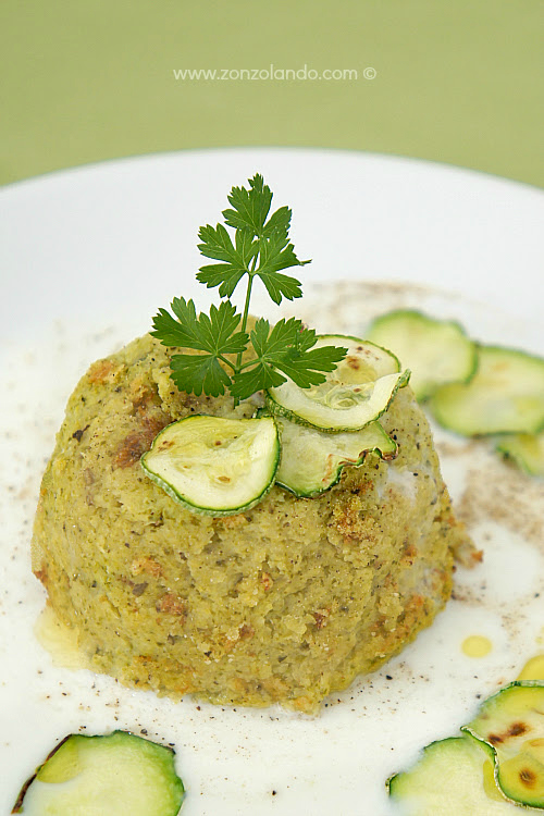 Sformatini di zucchine vegetariani ricetta light - veggie zucchini flan recipe tasty