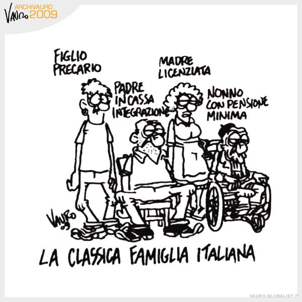 Risultati immagini per vauro la classica famiglia italiana