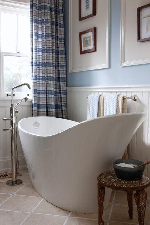 ванная комната, дизайн ванной комнаты, декор, голубая ванная комната
