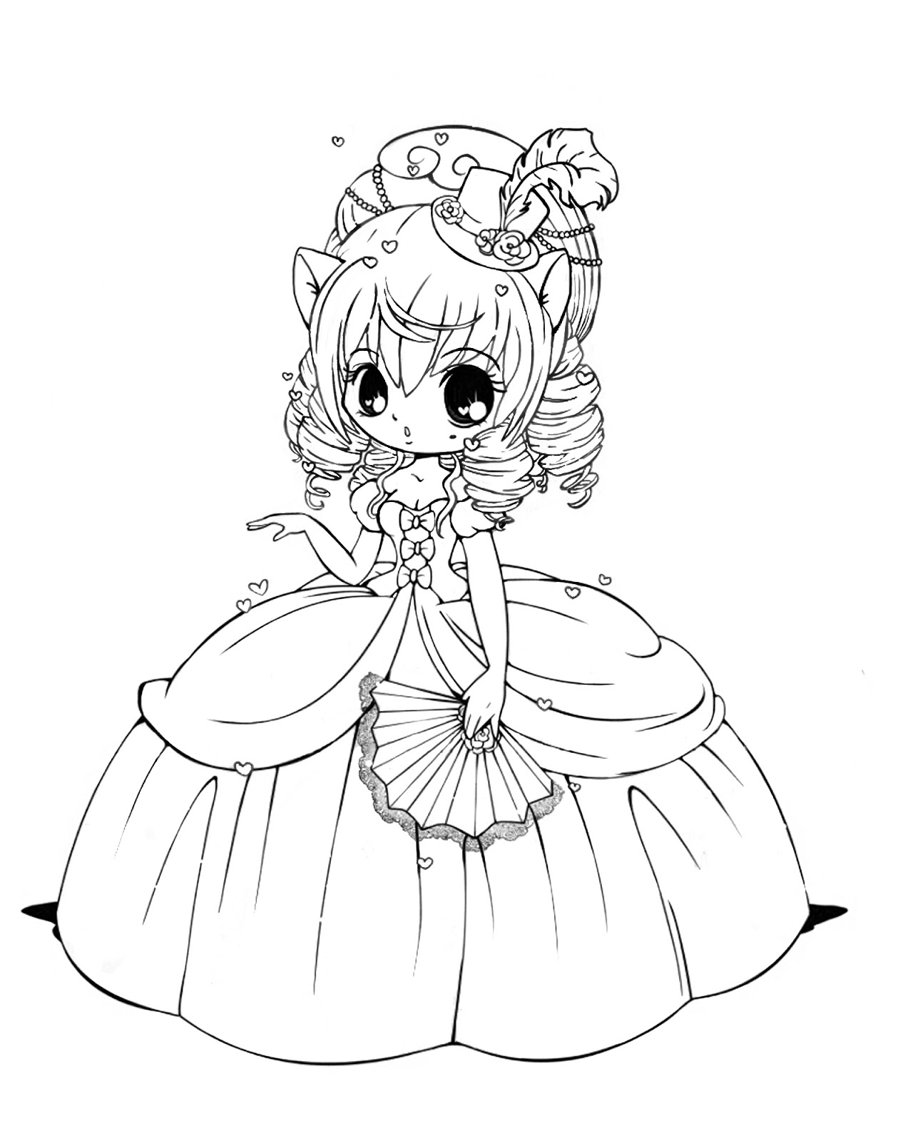 free coloring pages of cute girls