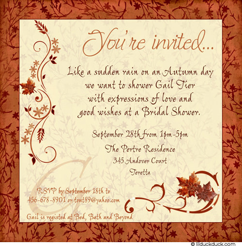 Autumn Bridal Shower Invitations8